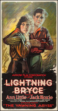 "Movie Posters:Western, Lightning Bryce (Arrow Film, 1919). Three Sheet (41.5"" X 79.5"")Episode 8 -- ""The Yawning Abyss."" Western.. ..."