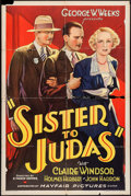 """Movie Posters:Drama, Sister to Judas (Mayfair Pictures, 1932). One Sheet (27"""" X 41""""). Drama.. ..."""