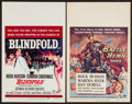 """Movie Posters:Thriller, Blindfold and Other Lot (Universal, 1966). Window Cards (2) (14"""" X22""""). Thriller.. ... (Total: 2 Items)"""