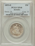 Seated Quarters, 1855-O 25C Arrows XF40 PCGS....