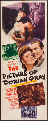 """The Picture of Dorian Gray (MGM, 1945). Insert (14"""" X 36""""). Horror"""