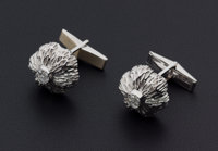 Vintage Diamond & Gold Karba Cufflinks