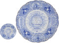 Political:3D & Other Display (pre-1896), Historical Staffordshire: Abolitionist Plates.... (Total: 2 Items)