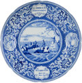 Antiques:Decorative Americana, Historical Staffordshire: America Independent Plate....