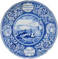Historical Staffordshire: America Independent Plate