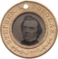 Political:Ferrotypes / Photo Badges (pre-1896), Stephen A. Douglas: Back to Back Ferrotype....