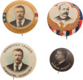 Political:Pinback Buttons (1896-present), Theodore Roosevelt and Alton B. Parker: Four Buttons.... (Total: 4 Items)