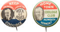Political:Pinback Buttons (1896-present), Calvin Coolidge: Pair of Classic Buttons.... (Total: 2 Items)
