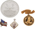 Political:Ferrotypes / Photo Badges (pre-1896), Benjamin Harrison: Four Campaign Items.... (Total: 4 Items)