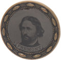 Political:Ferrotypes / Photo Badges (pre-1896), John C. Frémont: Unlisted 1864 Ferrotype. ...