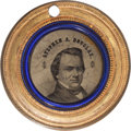 Political:Ferrotypes / Photo Badges (pre-1896), Stephen A. Douglas: 1860 Ferrotype....