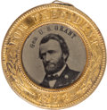 Political:Ferrotypes / Photo Badges (pre-1896), Ulysses S. Grant: 1872 Ferrotype Badge....