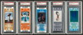 Football Collectibles:Tickets, 1995-2008 Super Bowl Full Ticket PSA Graded - Lot of 5. ...