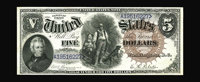 Fr. 78 $5 1880 Legal Tender Superb Gem New. We are fortunate to offer another screaming original example for this key to...