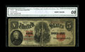 Fr. 92 $5 1907 Legal Tender Star Note CGA Very Good 08. This note brings the number to six examples of this Star note kn...