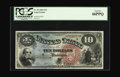 Large Size:Legal Tender Notes, Fr. 96 $10 1869 Legal Tender PCGS Gem New 66PPQ. Very nicelycentered on both sides, with strong color of the inks, paper an...
