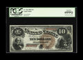 Large Size:Legal Tender Notes, Fr. 102 $10 1880 Legal Tender PCGS Gem New 65PPQ. This note is froma small run of pieces that has supplied virtually all th...