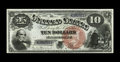 Large Size:Legal Tender Notes, Fr. 103 $10 1880 Legal Tender Gem New. Nearly every detail of thebold red seal is seen on the back since it was sold boldly...