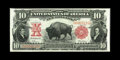 Large Size:Legal Tender Notes, Fr. 116 $10 1901 Legal Tender About New++. This glorious Bisonwhich stands proudly upon the plain is quite colorful and cri...