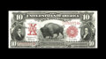 Large Size:Legal Tender Notes, Fr. 121 $10 1901 Mule Legal Tender Gem New. Original surfaces,perfect inks, and bright white paper are merits of this Bison...