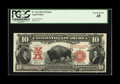 Large Size:Legal Tender Notes, Fr. 121 $10 1901 Mule Legal Tender PCGS Extremely Fine 45. Nicemargins surround this vividly colored Bison on which two lig...