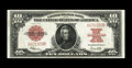 Large Size:Legal Tender Notes, Fr. 123 $10 1923 Legal Tender Extremely Fine. Though three foldsare noted, only one is of any significance. The colors rema...