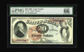 Large Size:Legal Tender Notes, Fr. 127 $20 1869 Legal Tender PMG Gem Uncirculated 66 EPQ. We areprivileged to have a most pleasing selection of Rainbow $2...