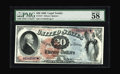 Large Size:Legal Tender Notes, Fr. 127 $20 1869 Legal Tender PMG Choice About Unc 58. A fewdisappointed bidders were left when this note was sold in our 2...