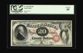 Large Size:Legal Tender Notes, Fr. 129 $20 1878 Legal Tender PCGS Gem New 65. A very closeinspection does not reveal why this Superb-looking issue did not...