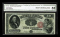 Large Size:Legal Tender Notes, Fr. 164 $50 1880 Legal Tender CGA About Uncirculated 55. Off themarket for over 40 years and originally sold as CU then, th...