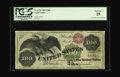 Large Size:Legal Tender Notes, Fr. 167b $100 1863 Legal Tender PCGS Very Fine 25. Many factorsplay roles in the value and admiration of particular issues ...