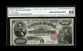 Large Size:Legal Tender Notes, Fr. 179 $100 1880 Legal Tender CGA Gem Uncirculated 65. This piecewhich came to us from the Great Lakes Collection by way o...