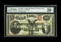 Large Size:Compound Interest Treasury Notes, Fr. 190b $10 1864 Compound Interest Treasury Note PMG Very Fine 20.An eye appealing Fine-Very Fine with decent color to the...