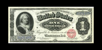 Fr. 215 $1 1886 Silver Certificate About New. The corners are sharp, and there is a light center fold, but the note has...