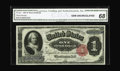 Large Size:Silver Certificates, Fr. 223 $1 1891 Silver Certificate CGA Gem Uncirculated 68. Widemargins encircle this natural Martha that radiates with bea...