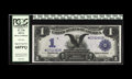 Large Size:Silver Certificates, Fr. 230 $1 1899 Silver Certificate Star Note PCGS Superb Gem New68PPQ. An absolutely great Star that earned its PPQ modifie...