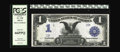Large Size:Silver Certificates, Fr. 230 $1 1899 Silver Certificate PCGS Gem New 66PPQ. Last appearing in our May 2002 Central States sale where it was descr...