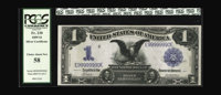 Fr. 230 $1 1899 Silver Certificate PCGS Choice About New 58. Nine digits away from solid nines. Nicely embossed with a s...