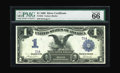 Large Size:Silver Certificates, Fr. 233 $1 1899 Silver Certificate Serial Number One PMG GemUncirculated 66 EPQ. From our CAA sale of May 2001 where it was...