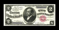 Fr. 245 $2 1891 Silver Certificate About New. A single fold, over an inch to the right of Windom is the only grade limit...