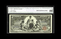 Large Size:Silver Certificates, Fr. 247 $2 1896 Silver Certificate CGA Gem Uncirculated 66.Excellent print quality, embossing, natural surfaces, and margin...