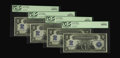 Large Size:Silver Certificates, Fr. 251 $2 1899 Silver Certificate Cut Sheet of Four PCGS VeryChoice New 64PPQ (2), Gem New 65PPQ, Gem New 66PPQ. This love...(Total: 4 notes)