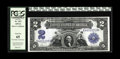 Large Size:Silver Certificates, Fr. 252 $2 1899 Silver Certificate PCGS Gem New 65. The reason this note did not receive a PPQ designation is not readily ap...