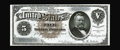Large Size:Silver Certificates, Fr. 264 $5 1886 Silver Certificate Choice New. This note appearsfully Gem save for a slightly smaller bottom margin at righ...