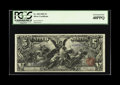 Large Size:Silver Certificates, Fr. 268 $5 1896 Silver Certificate PCGS Extremely Fine 40PPQ. Threeever-so-light bends and some crinkles account for the gr...