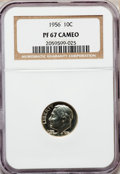 Proof Roosevelt Dimes: , 1956 10C PR67 Cameo NGC. NGC Census: (86/153). PCGS Population(212/116). Numismedia Wsl. Price for problem free NGC/PCGS ...
