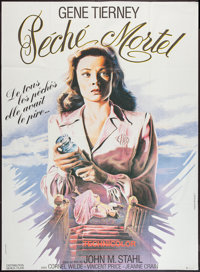 "Leave Her to Heaven (Gerick Films, R-2000s). French Grande (45.5"" X 62.5""). Film Noir"