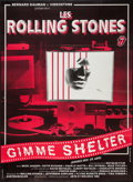 "Movie Posters:Rock and Roll, Gimme Shelter (Arts Et Melodie, R-1982). French Grande (45.5"" X62""). Rock and Roll.. ..."