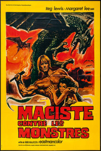 "Fire Monsters Against the Sons of Hercules (Sofradis, 1962). French Grande (45"" X 61.5""). Fantasy"