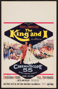 "The King and I (20th Century Fox, 1956). Window Card (14"" X 22""). Musical"